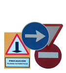 Traffic signs and street plates